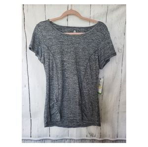 Gaiam Black Heather Energy Tee Large